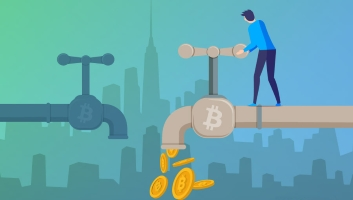You can win free bitcoins through online faucets