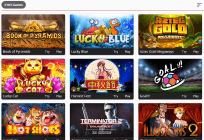 The wide BTC games collection at Oshi Casino