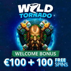Enjoy deposit match and free spin when you join Wild Tornado